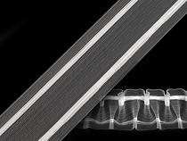 Rejansă transparentă zig-zag, lățime 50 mm