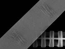 Curtain Heading translucent width 80 mm pencil pleat drapery