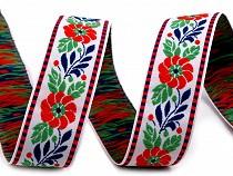 Ruban folklorique en polyester, largeur 25 mm