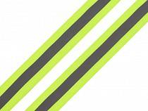 Bandă reflectorizantă textilă, lățime 25 mm