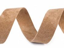 Schrägband Velour Breite 20 mm nicht eingebügelt