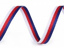 Bandă decorativă  / vipușcă tricoloră, lățime 10 mm