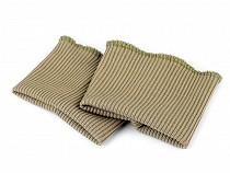 Manșete elastice tricotate, lățime 7 cm