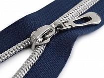 Nylon Zipper with Silver Teeth width 7 mm length 50 cm