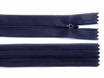 Špirálový zips skrytý šírka 3 mm dĺžka 35 cm dederón