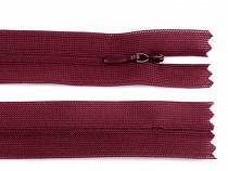 Špirálový zips skrytý šírka 3 mm dĺžka 60 cm dederón