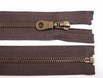 Antique Brass Zipper 6 mm open-end 60 cm jacket