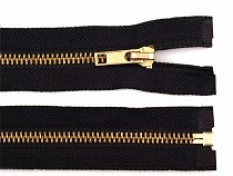 Kovový / mosazný zip šíře 6 mm délka 85 cm