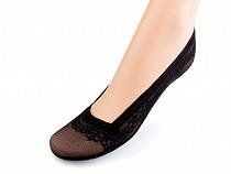 Ponožky do balerín s čipkou, bavlnené