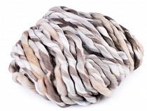 Fir de tricotat extra gros melange, 250 g