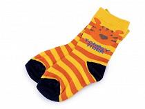 Detské ponožky pruhované so zvieratkami