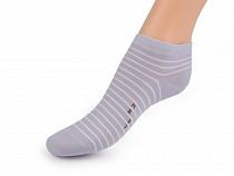 Dámske bavlnené ponožky členkové pruhy, prúžky,  bodka