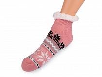 Ponožky zimné s protišmykom, krátke