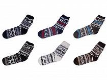 Pánske ponožky zimné  s protišmykom, dlhé