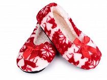 Papuci de casă balerini cu blăniță
