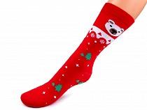 Dámské bavlněné ponožky vysoké, vánoční