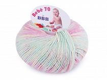Pletací příze Bebé 70; 50 g multicolor