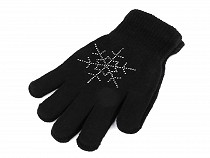 Girl's Knitted Gloves with Snowflake