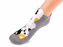 Detské ponožky členkové mačka, pes, mýval