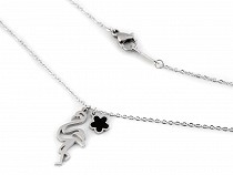 Stainless Steel Necklace Stars, Flamingo, Heart