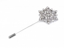 Decorative Rhinestone Pin Snowflake with Bead
