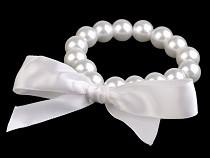 Brăţară din perle de sticlă cu fundă