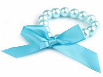 Faux Pearl Bracelet with Bow