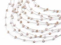 Multi-row Bead Bib Necklace