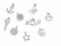 Stainless Steel Charm - heart, butterfly, snowflake, star, anchor
