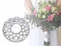 Brošňa / svadobná ozdobana kytice