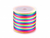 Rattail Rainbow Satin Cord Ø1 mm