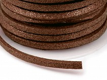 Velúr bőr szál metál szélessége 3 mm