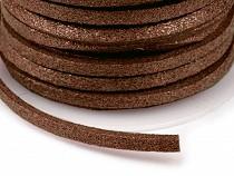Imitation Leather Flat String width 3 mm