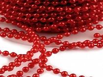 Vianočná perlová reťaz Ø3 mm