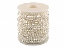 Guirlande de perles en plastique, Ø 3 mm