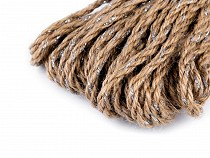 Christmas Braided Jute String with Lurex Ø5 mm