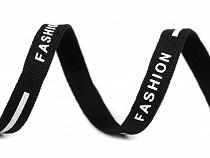 Oděvní šňůra plochá, vhodná i pro roušky, šíře 10 mm Fashion