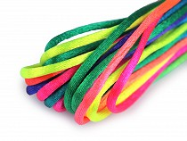 Satin Ribbon / String Ø1 mm Rainbow, packs per 3 m