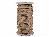 Jutová šňůra pletená Ø6 mm