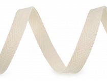 Bandă din bumbac Herringbone, lățime 12 mm