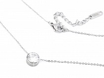 Stainless Steel Chain Necklace Rhinestone