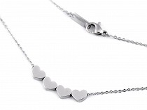 Stainless Steel Chain Necklace Hearts