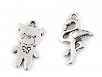 Metal Charm Bear, Flamingo