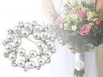 Faux Pearl Brooch / Bouquet Brooch Adornment