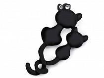 Brošňa pes, mačka s brúsenými kamienkami
