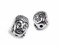 Mărgele metalice Buddha, 9x11 mm