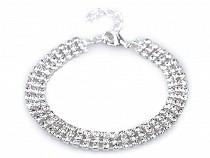 Bransoletka sztrasowa trzyrzędowa - biżuteria Jablonex
