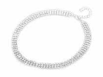 Three-row Rhinestone / Strass Necklace - Jablonec Custom Jewellery