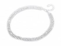 Štrasový náhrdelník trojradový - jablonecká bižutéria