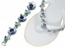 Accesoriu decorativ cu cristale pentru încălțăminte